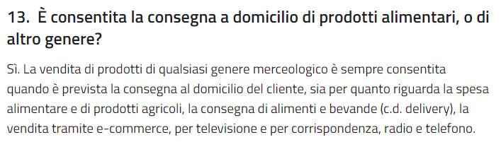 FAQ Regione Emilia Romagna