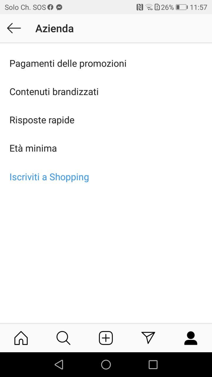 Iscriviti a Shopping IG